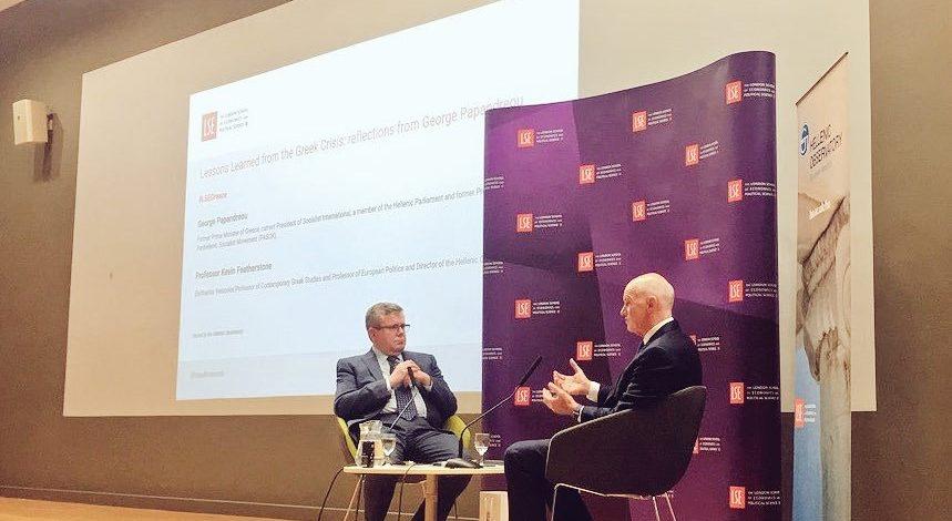 Γιώργος Α. Παπανδρέου από το LSE:«Σήμερα, έστω κι αργά, όλοι κατάλαβαν τι θα σήμαινε μια χρεοκοπία της Ελλάδας»